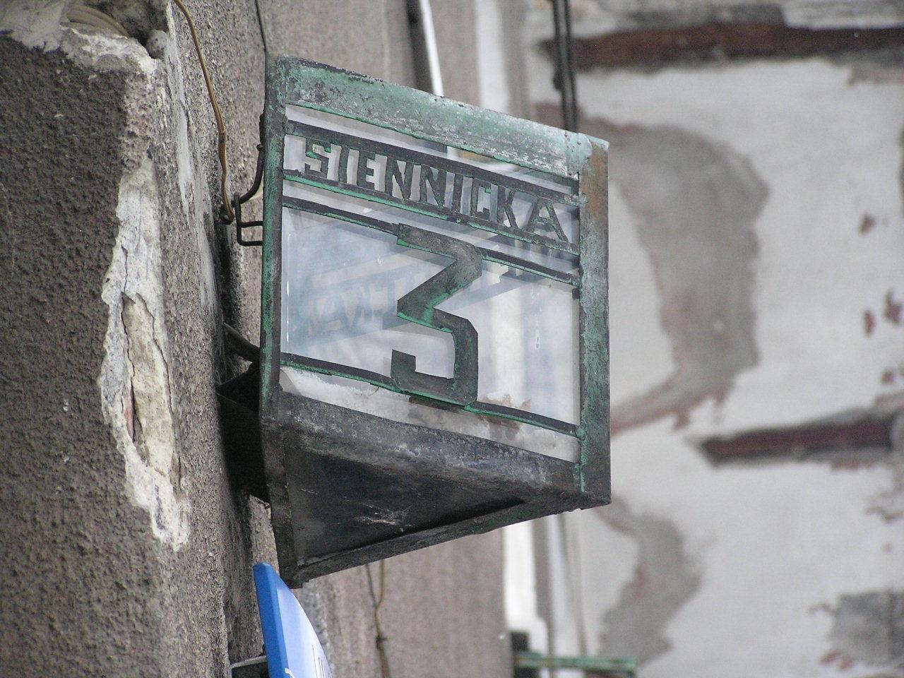 Latarenka adresowa - Siennicka 3