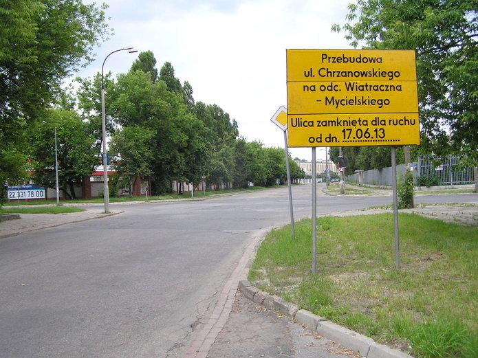 Ulica Chrzanowskiego zamknięta na czas remontu