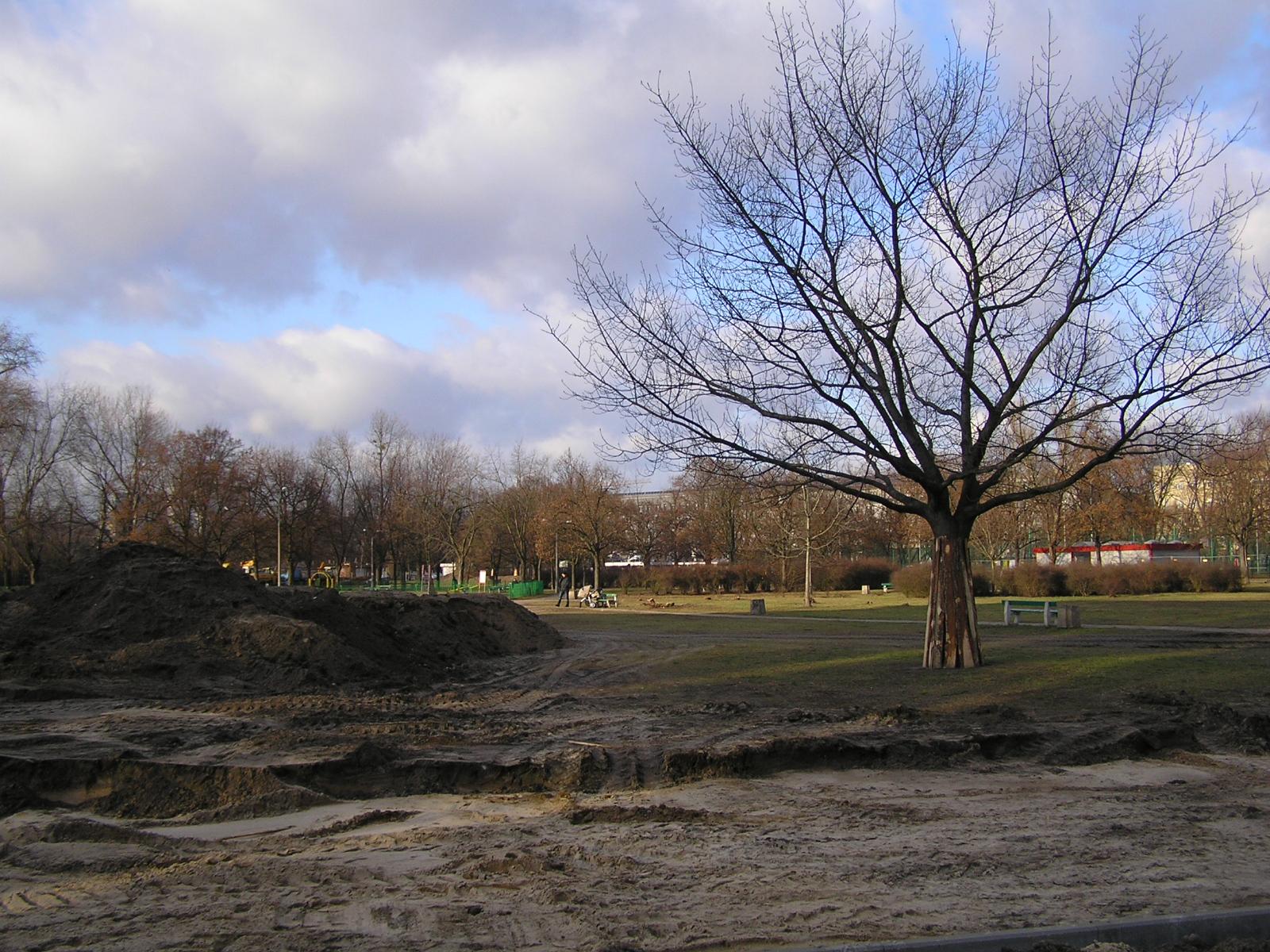 Park Polińskiego otwartym placem budowy