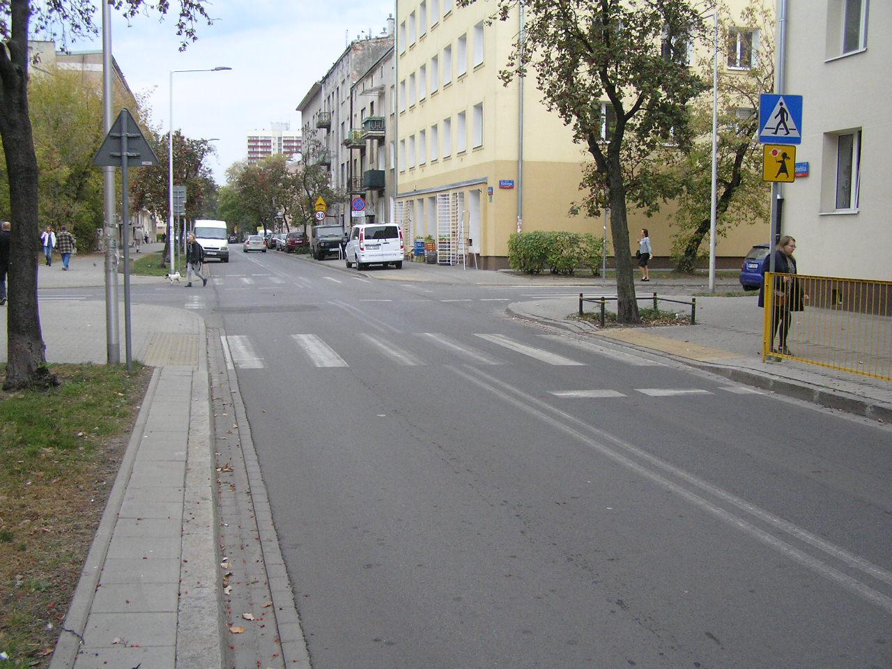 Niebezpieczne miejsce na ulicy Kobielskiej
