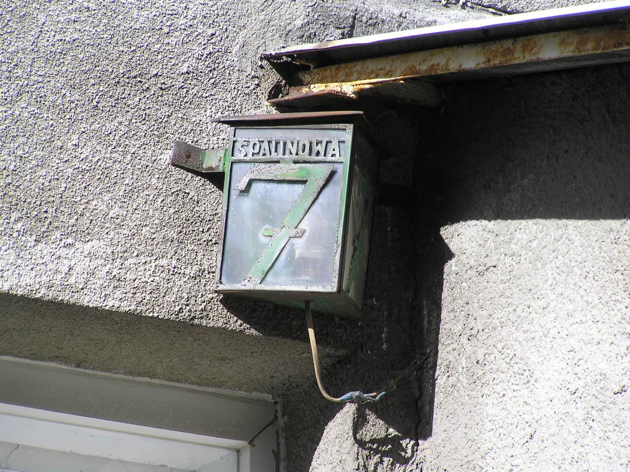 Latarenka adresowa - Spalinowa 7
