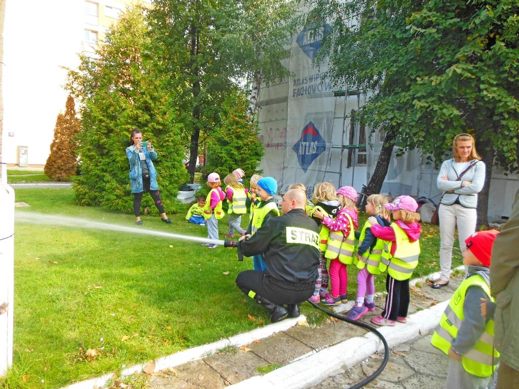 Przedszkolaki z Pustelnickiej z wizytą u strażaków