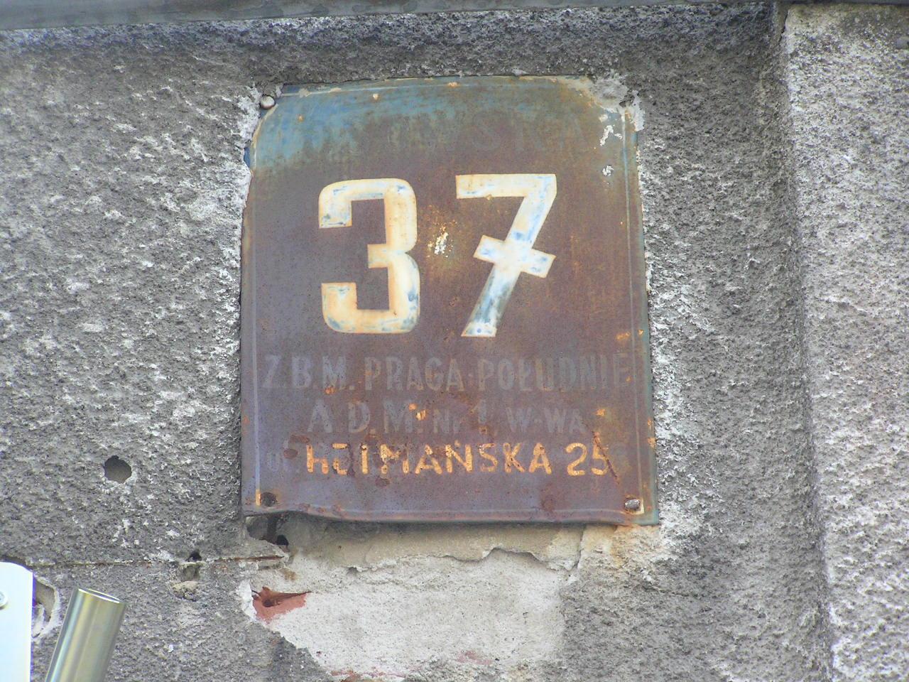 Tablica adresowa - Osowska 37