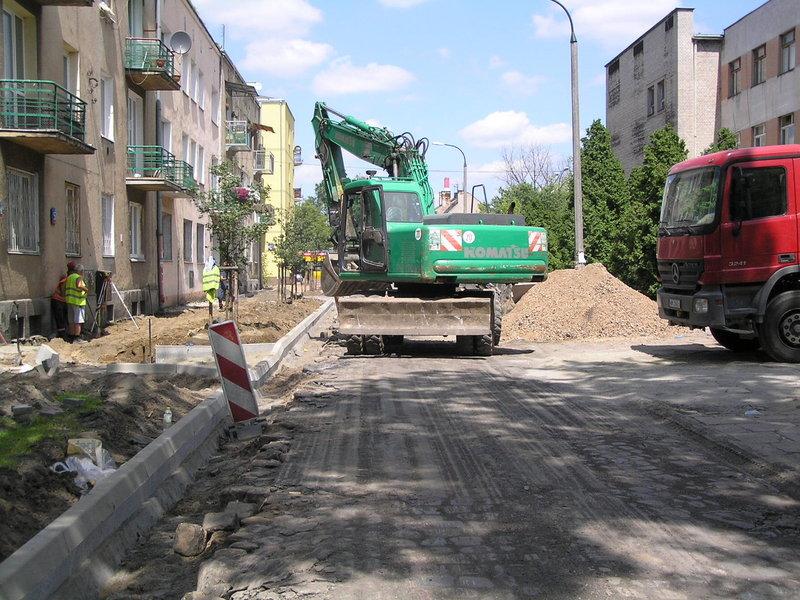 Trwa modernizacja ulicy Tarnowieckiej