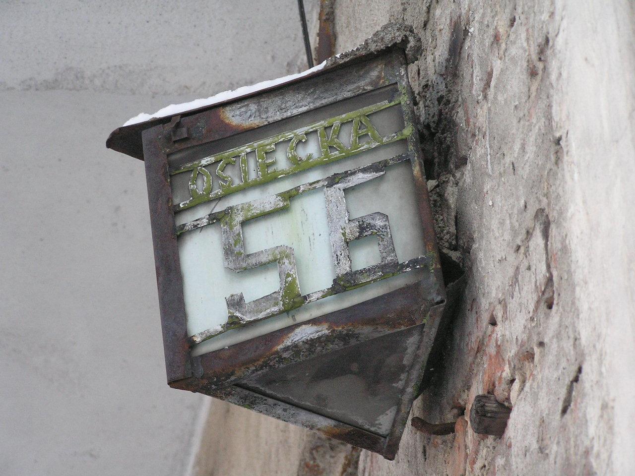 Latarenka adresowa - Osiecka 56