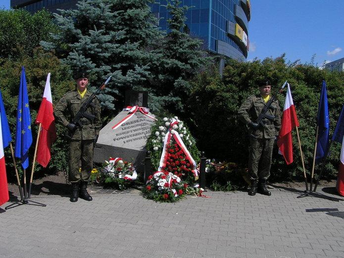 Uroczystość na skwerze 1. Dywizji Grenadierów