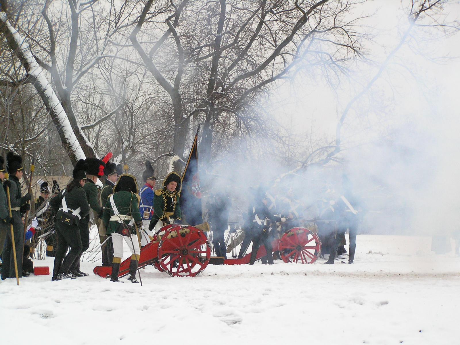 Inscenizacja Bitwy Grochowskiej na błoniach Parku Skaryszewskiego