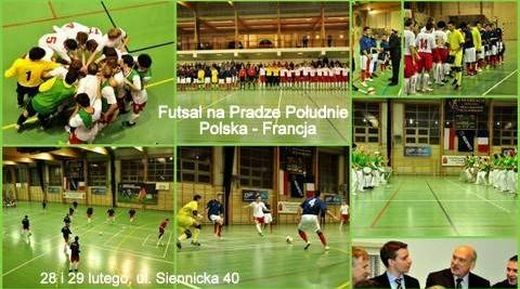 Futsal w hali na Grochowie