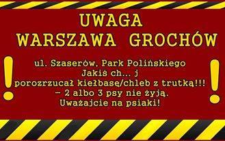 Uwaga: kiełbasa i chleb z trutką w parku Polińskiego