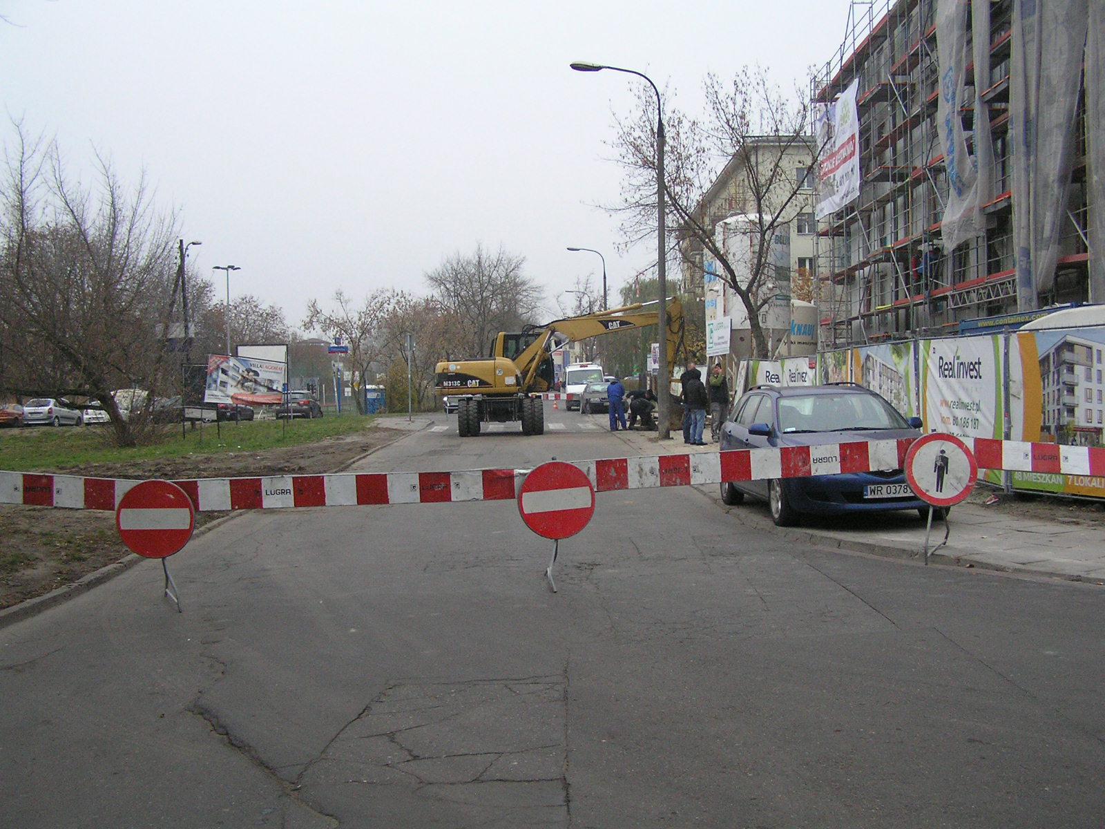 Budowa przyłącza gazowego na Olszynki Grochowskiej