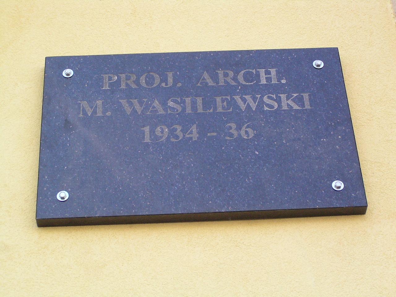 Tablica z nazwiskiem architekta - Grochowska 233