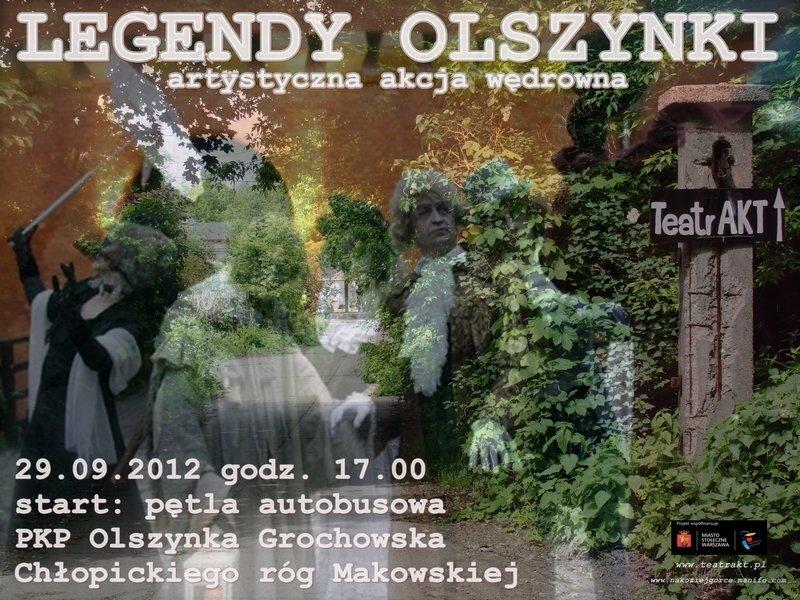 Artystyczna akcja wędrowna Legendy Olszynki