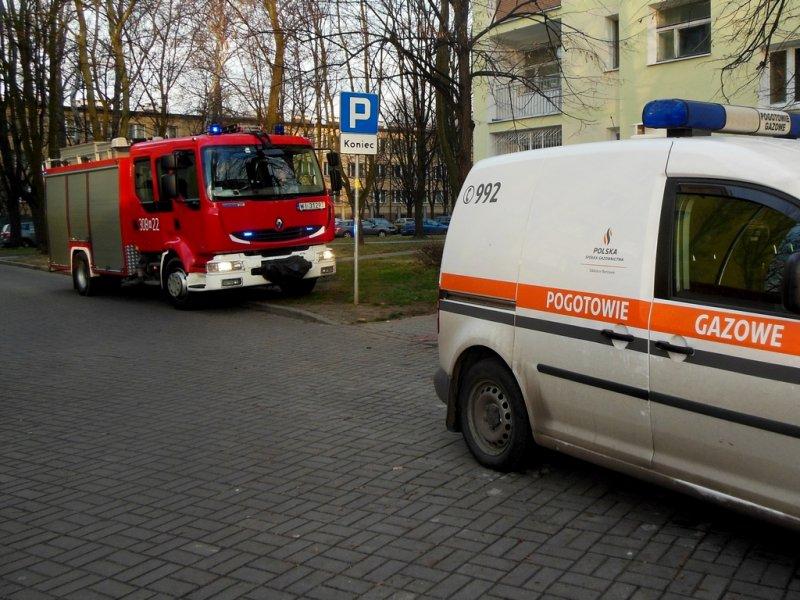Wyciek gazu przy ulicy Garwolińskiej 26