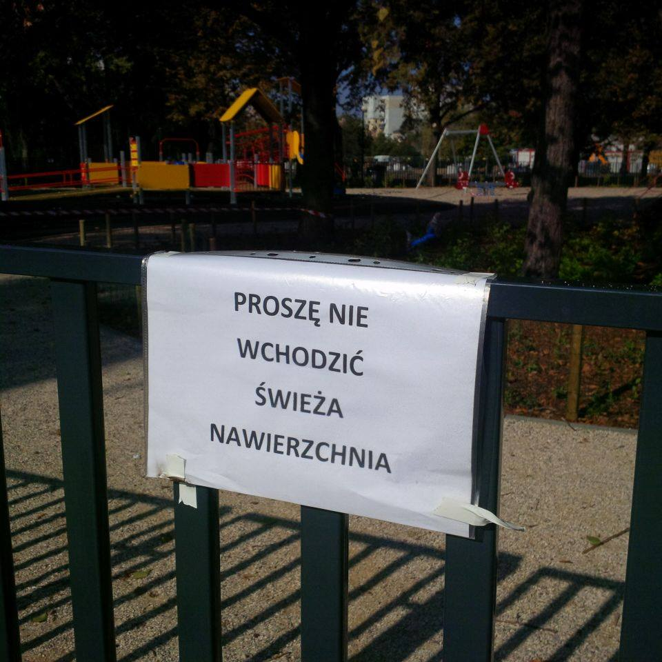 Dewastacja w Parku Polińskiego