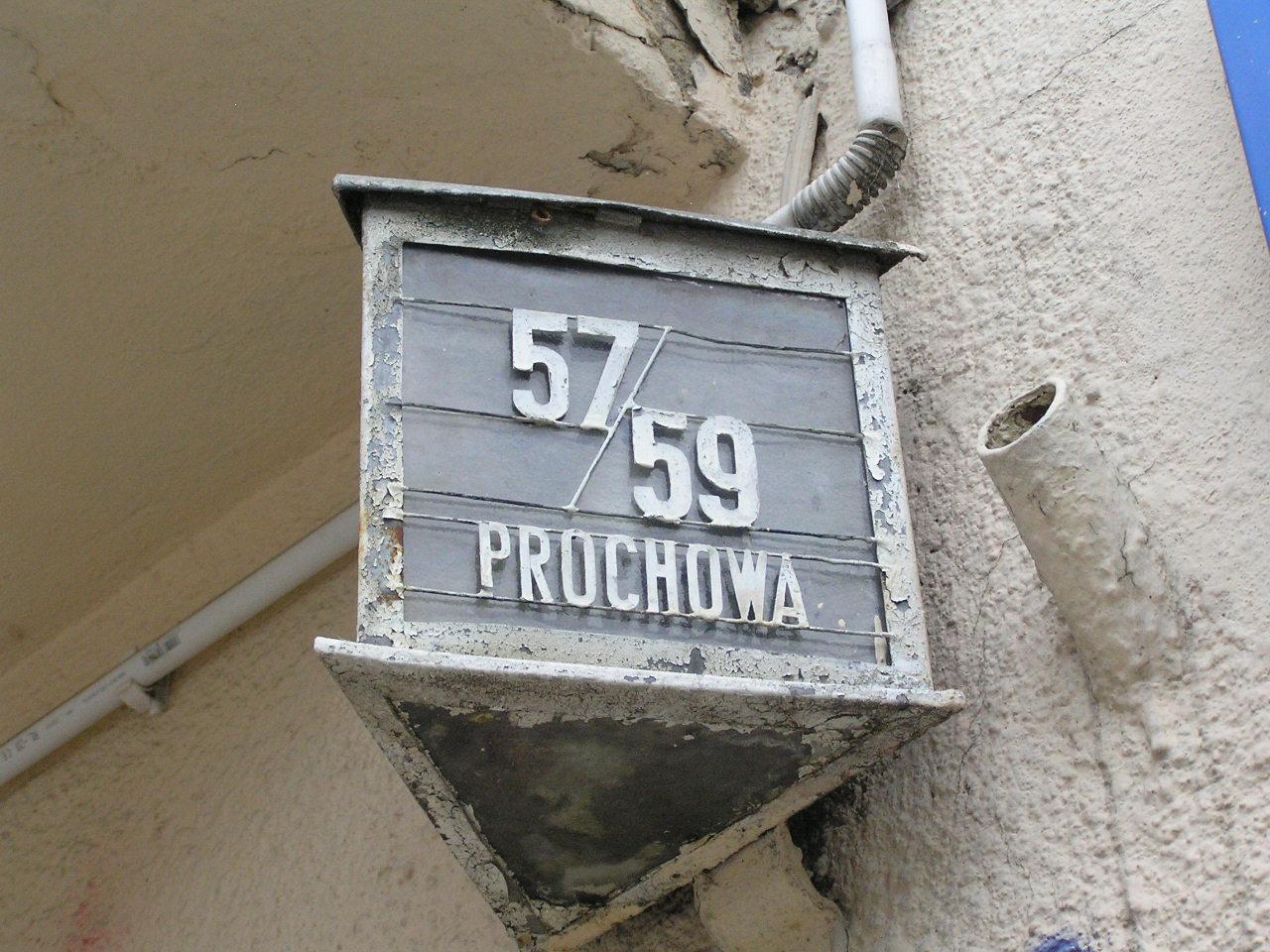 Latarenka adresowa - Prochowa 57/59
