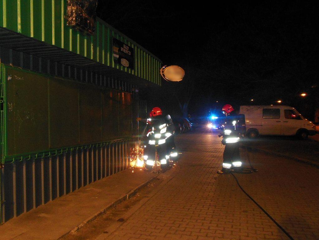 Pożar sklepu spożywczego przy ulicy Podskarbińskiej 7
