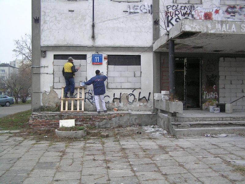 Dzielnica zabezpieczyła opuszczony pawilon sportowy KS