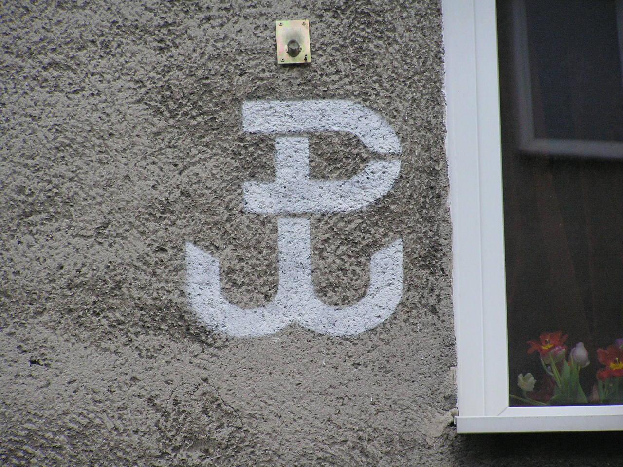Znak Polski Walczącej - Wiatraczna 3