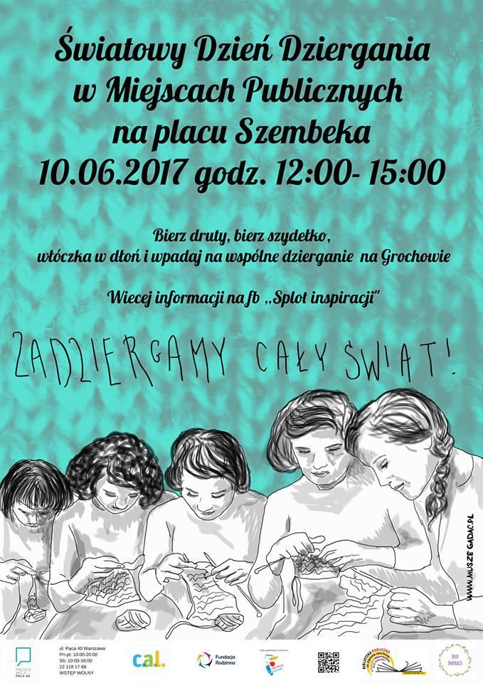 Światowy Dzień Dziergania na Placu Szembeka