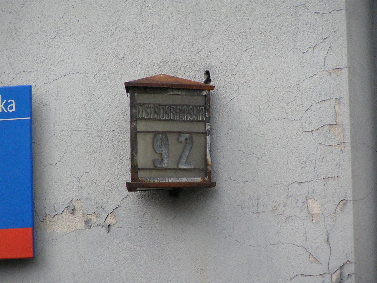 Latarenka adresowa - Ostrobramska 92