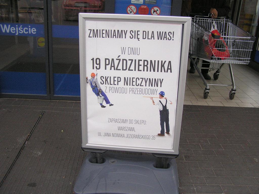 Przebudowa sklepu Lidl przy Grochowskiej