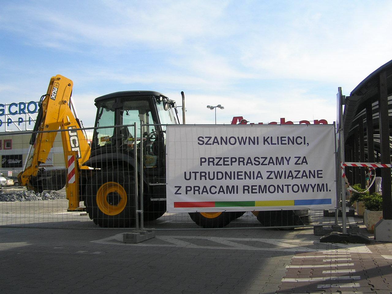 Remont parkingu Centrum Handlowego King Cross Praga