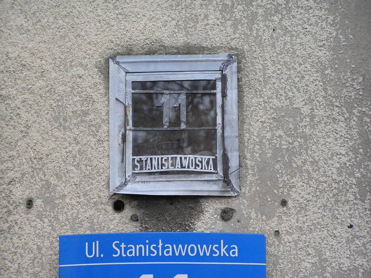 Latarenka adresowa - Stanisławowska 11