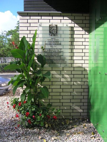 Tablica pamięci Stanisława Sosabowskiego