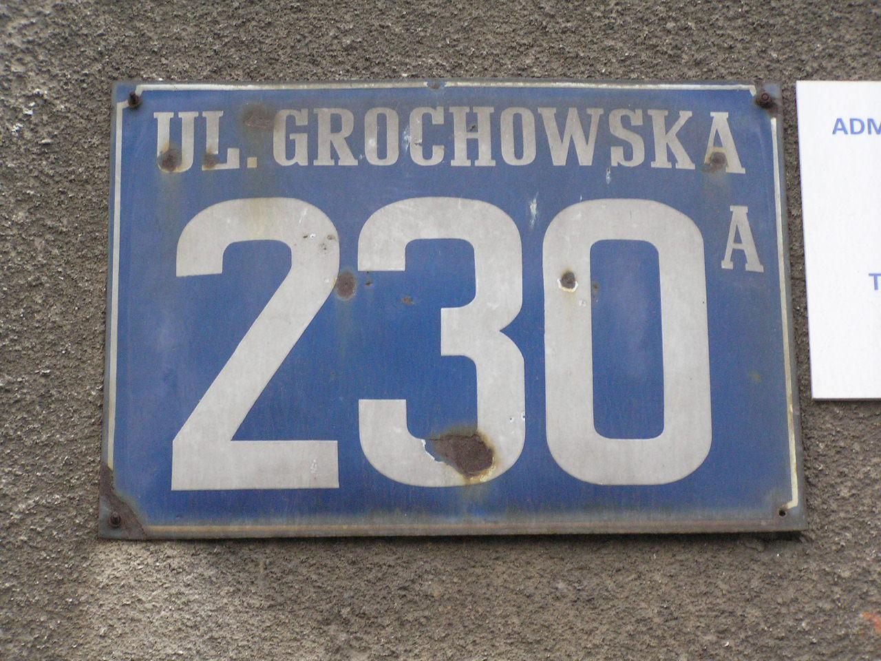 Tablica adresowa - Grochowska 230A