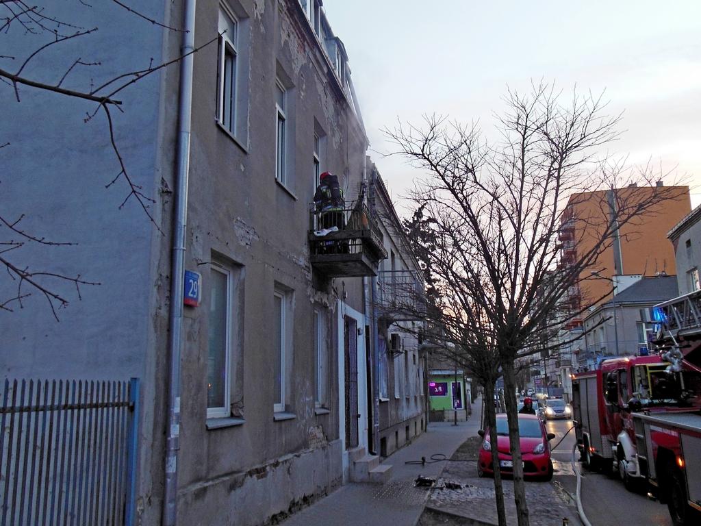 Pożar mieszkania przy Czapelskiej 29
