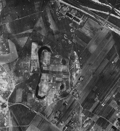 Fort XIA - zdjęcie lotnicze z 1945 r.