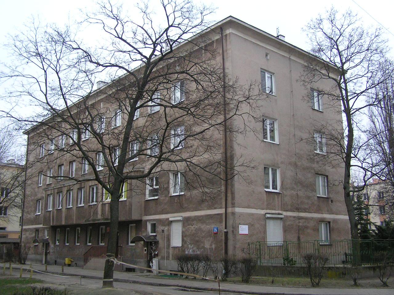 Budynek przy ulicy Dwernickiego 29A na Grochowie