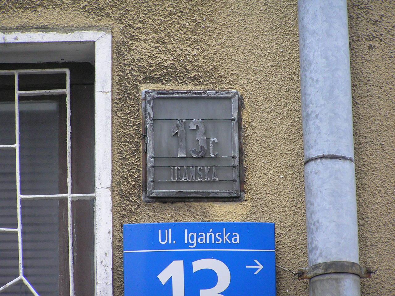 Latarenka adresowa - Igańska 13C