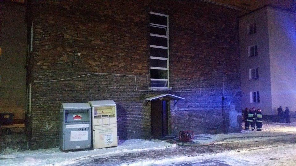 Pożar przy Kickiego 26C. Dwie osoby poszkodowane