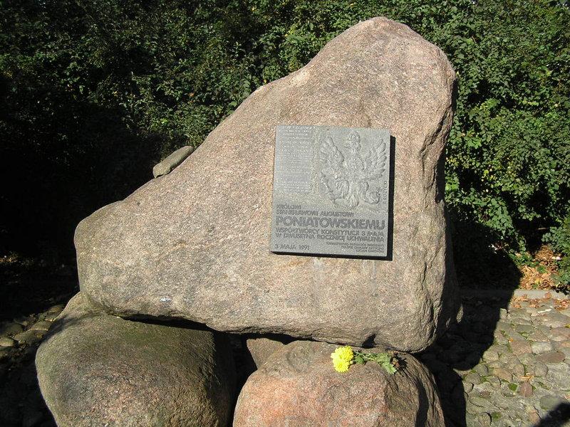 Pomnik poświęcony Stanisławowi Augustowi Poniatowskiemu