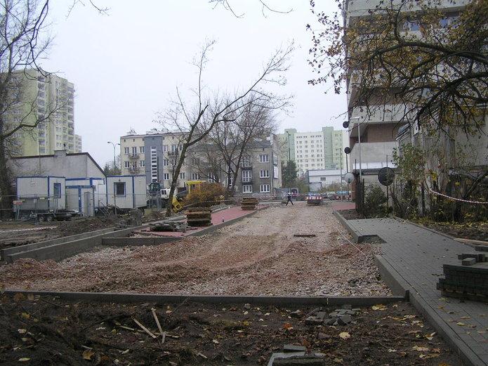 Ulice Bitwy Grochowskiej, Pokucka i Trembowelska w budowie