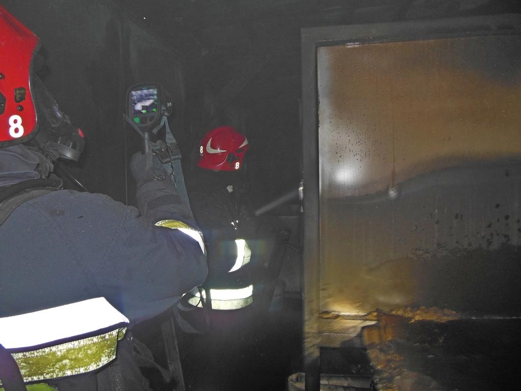Pożar kotłowni przy ul. Podskarbińskiej 14, fot. st. sekc. Marian Dziubak
