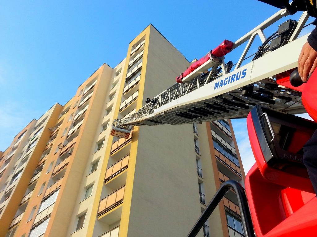Pożar balkonu na Łukowskiej
