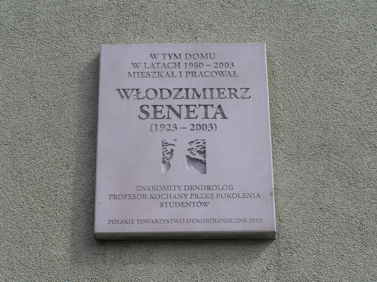 Tablica pamięci Włodzimierza Senety