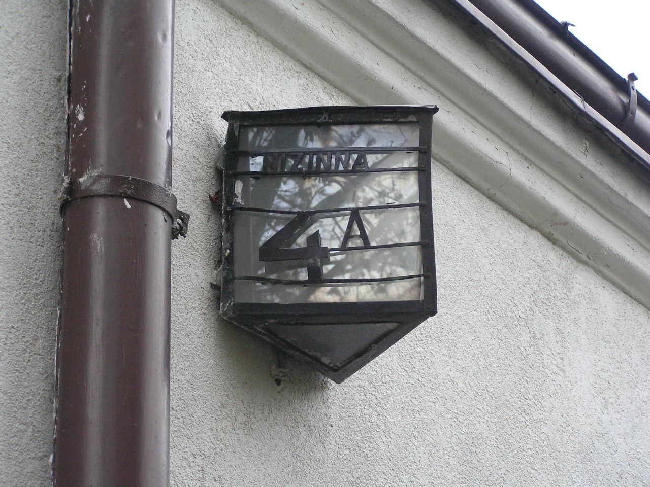 Latarenka adresowa - Nizinna 4A