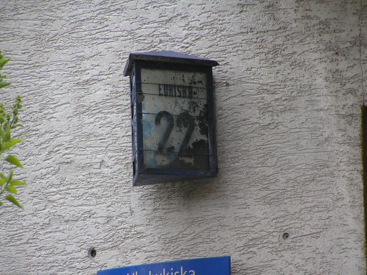 Latarenka adresowa - Łukiska 22