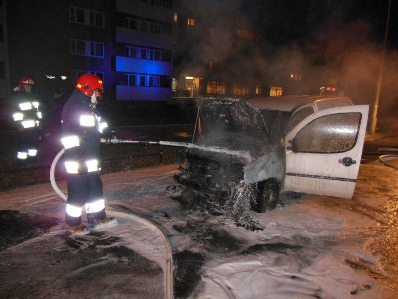 Pożar samochodu na Chłopickiego