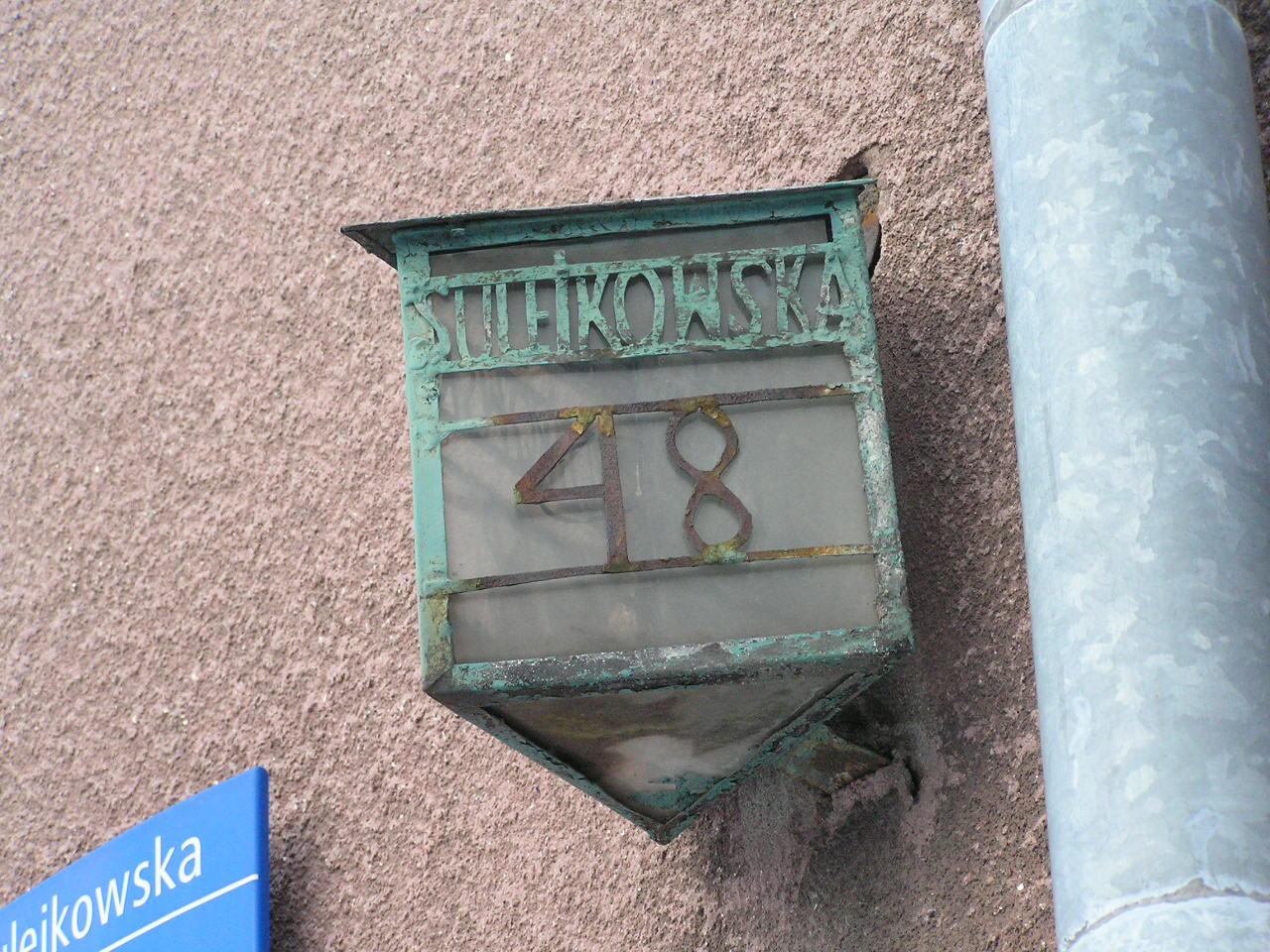 Latarenka adresowa - Sulejkowska 48