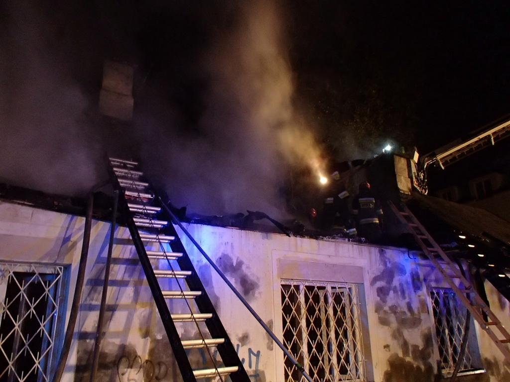 Pożar budynku przy Osowskiej 34