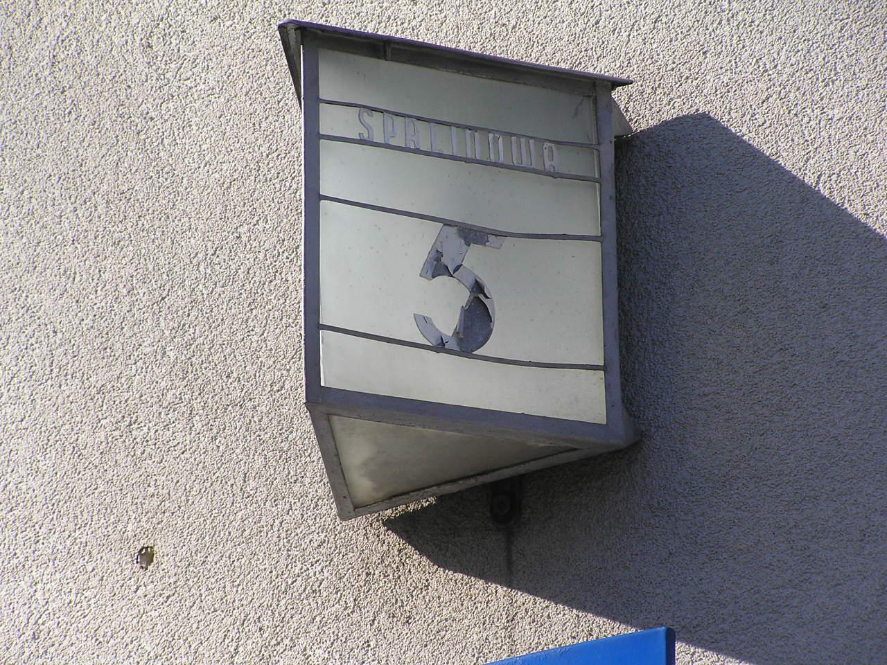 Latarenka adresowa - Spalinowa 5
