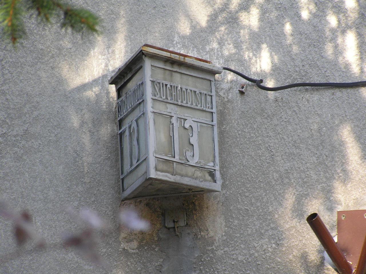 Latarenka adresowa - Suchodolska 13