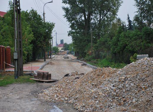 Trwa przebudowa ulicy Pabianickiej