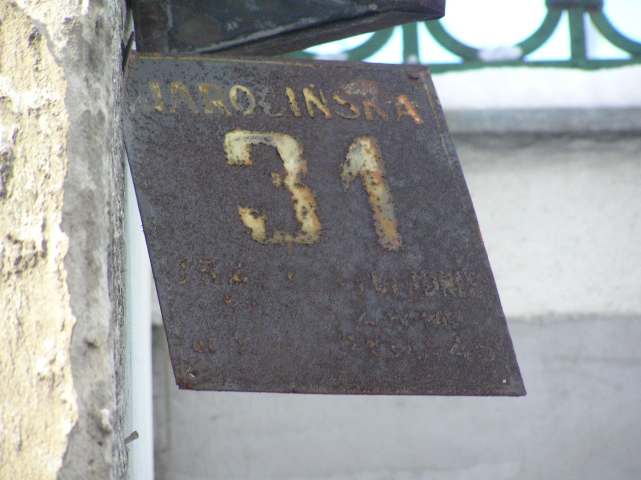 Tablica adresowa - Jarocińska 31