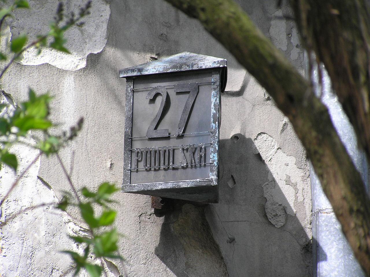 Latarenka adresowa - Podolska 27