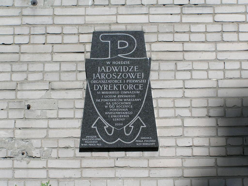 Odsłonięto tablice pamięci prof. Jadwigi Jaroszowej